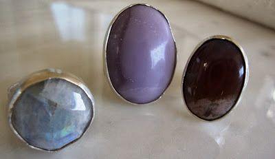 Silver 925, agate, Moonstone  rings...handmade χειροποίητα κοσμήματα: Ασημένια δαχτυλίδια με αχάτη και φεγγαρόπετρα, jewellery - Kiki