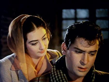 Shammi Kapoor and Saira Banu in Junglee