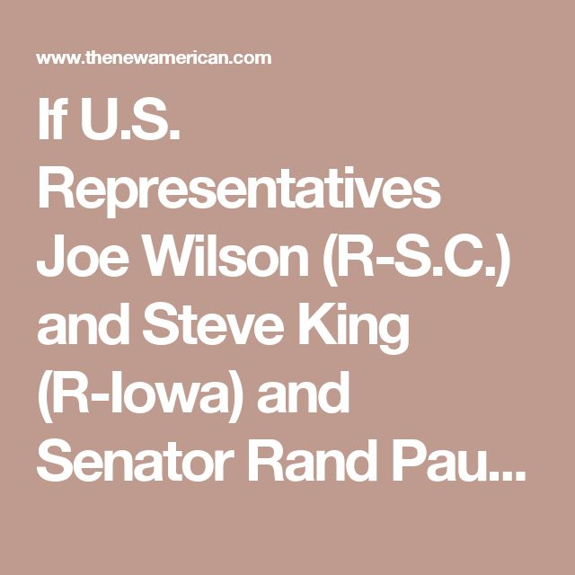 If U.S. Representatives Joe Wilson (R-S.C.) and Steve King (R-Iowa) and Senator Rand Paul (R-Ky.) have their way, the days of forcing American workers to join a labor union in order to keep their jobs will soon come to an end. These pro-right-to-work lawmakers have sponsored legislation designed to end the practice of forced union membership in the United States. In addition, there are pending lawsuits in lower federal courts, challenging the practice of forced unionism. The legislation…
