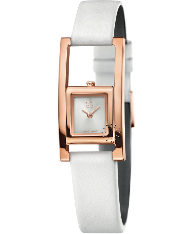 CALVIN KLEIN Unexpected Rose Gold White Leather Strap. Τιμή: 221€ http://www.oroloi.gr/product_info.php?products_id=37967