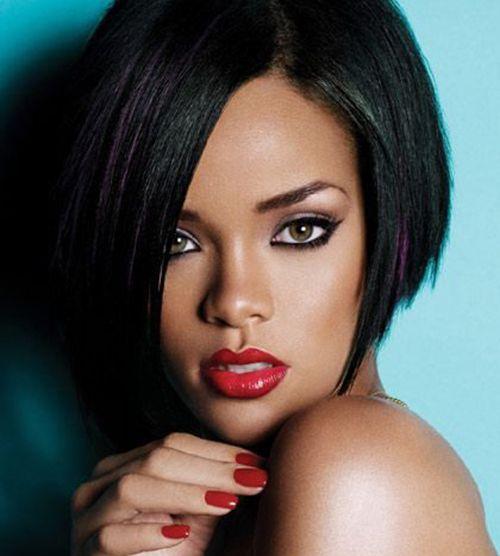 20 Moda Rihanna Bob cortes de cabelo - http://bompenteados.com/2016/08/13/20-moda-rihanna-bob-cortes-de-cabelo.html