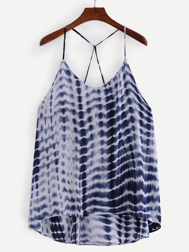 Strappy+Tie+Dye+Print+Cami+Top+-+Blue+12.99