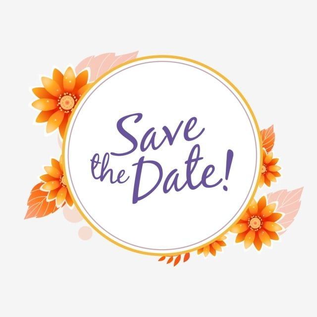 Gambar Simpan Templat Jemputan Perkahwinan Tarikh Jemputan Bunga Kad Png Dan Vektor Untuk Muat Turun Percuma Bunga Gambar Png