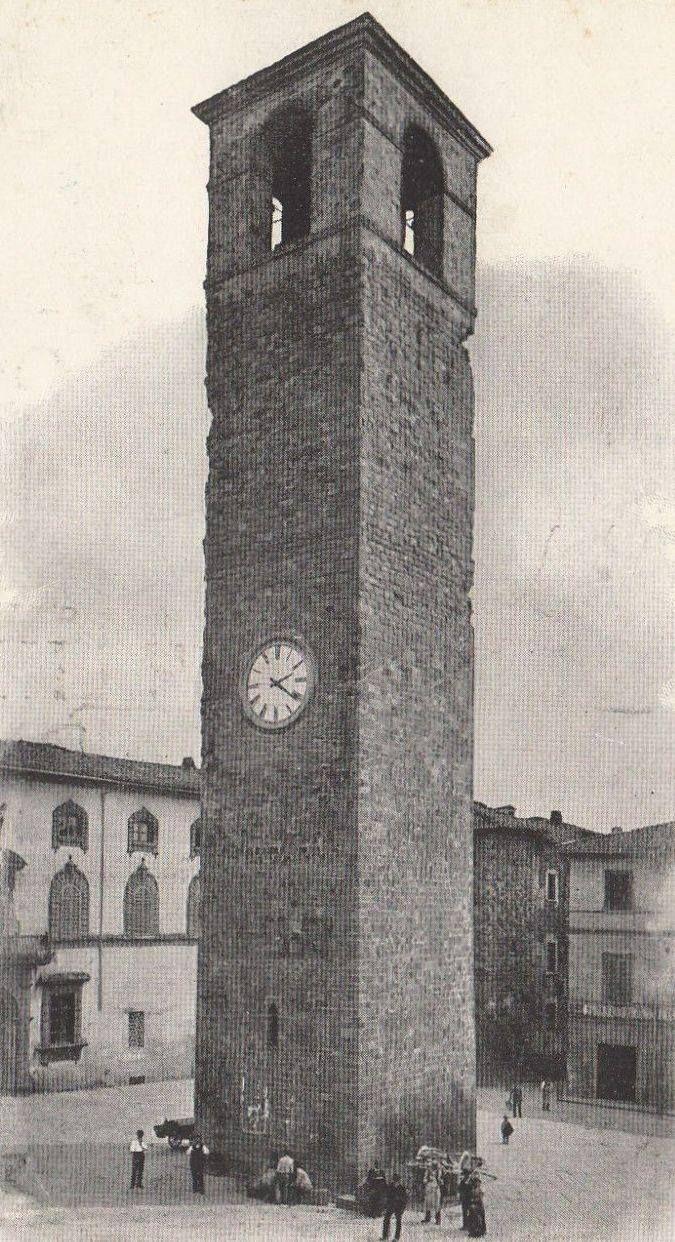 Torre di Berta, realizzata nel XII secolo. Venne distrutta nel corso del passaggio del fronte della seconda guerra mondiale.