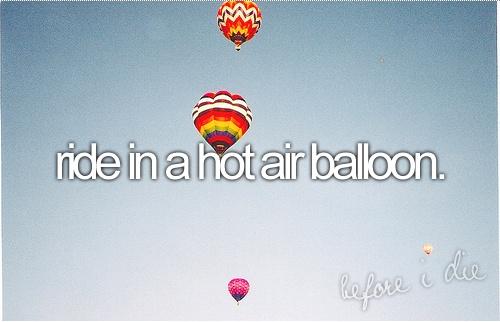 own a hot air balloon