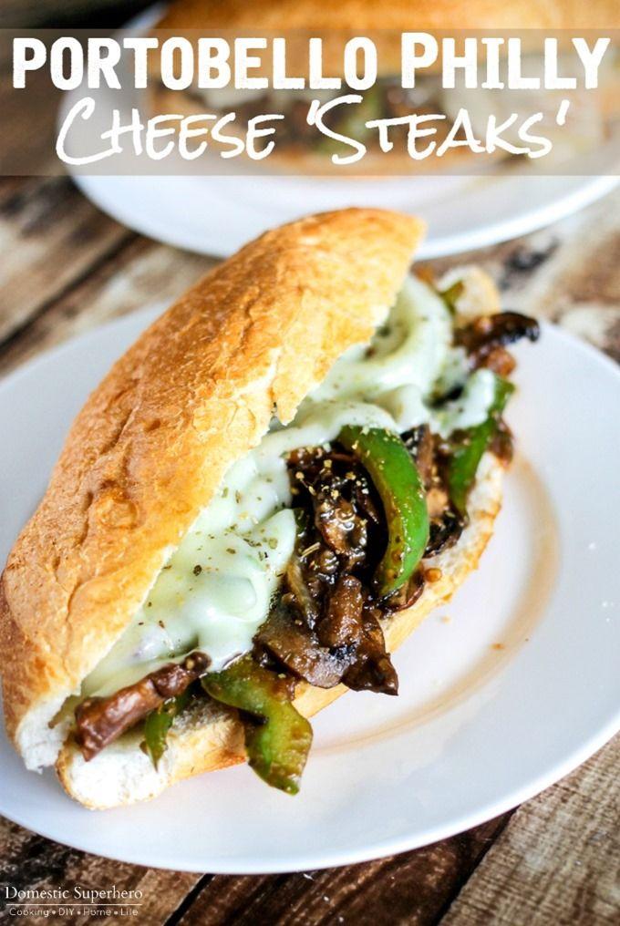 Portobello Philly Cheese 'filetes' - todo el sabor, menos grasa, y…