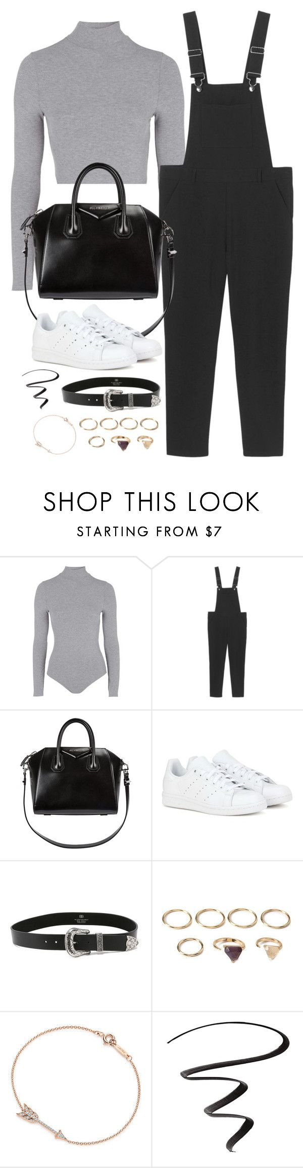 """""""Untitled#4388"""" by fashionnfacts ❤ liked on Polyvore featuring Topshop, Monki, Givenchy, adidas, B-Low the Belt, Forever 21, Tiffany & Co. and L'Oréal Paris"""