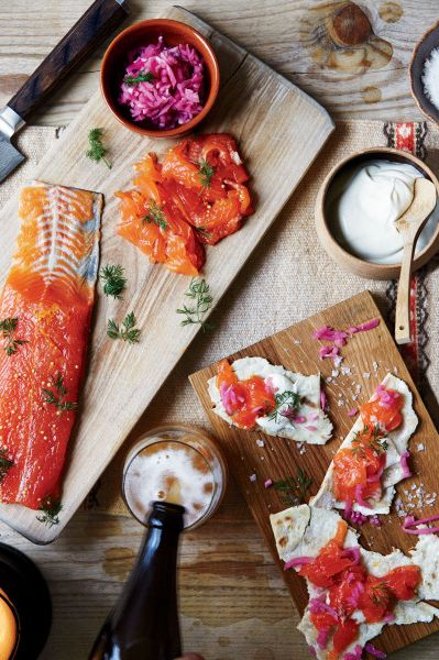 Cured Arctic Char: This method works well with other fish. Substitute salmon or fresh trout for the char if you like.