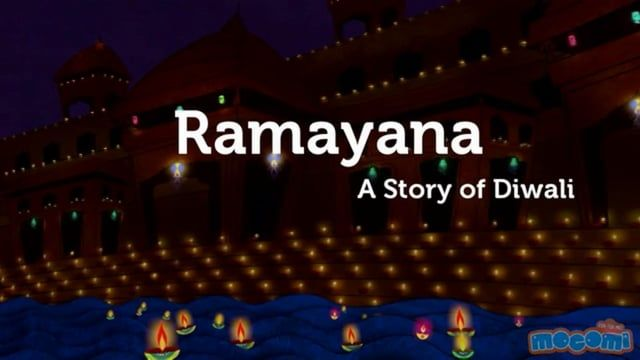 http://mocomi.com/ presents: Ramayana - The Story of Diwali  Watch this fun video to know about why is Diwali celebrated and what was the story of the epic Ramayana.  Many see Diwali honouring the return of the lord Rama, his wife Sita and his brother Lakshmana from exile.  This video is a part of the Festivals issue 4 of our free online Kids Magazine - Mocomag. If you liked this video, you'll definitely love the rest of our magazine. Subscribe for FREE today: http://mocomi.com/issue4/