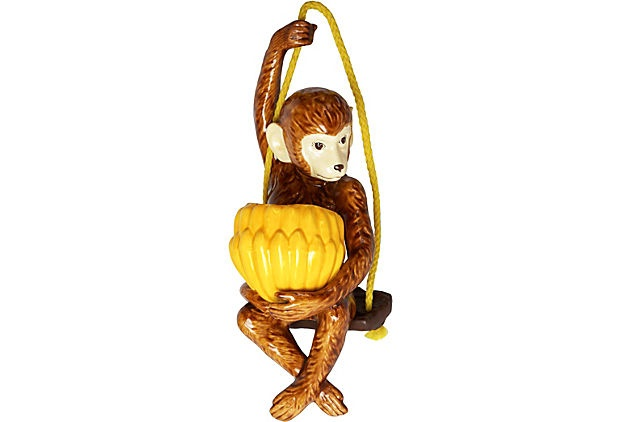 Monkey On Swing Hanging Planter Devine Decor Pinterest
