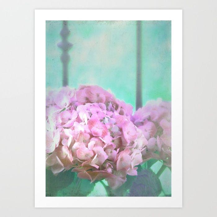 Buy Hydrangea Art Print by aRTsKRATCHES.