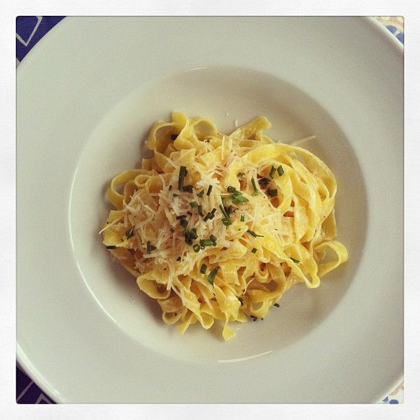Tagliarelle w/truffle butter - so simple, so scrumptious. Pair with a crisp white wine and you'll be satisfied. ;)