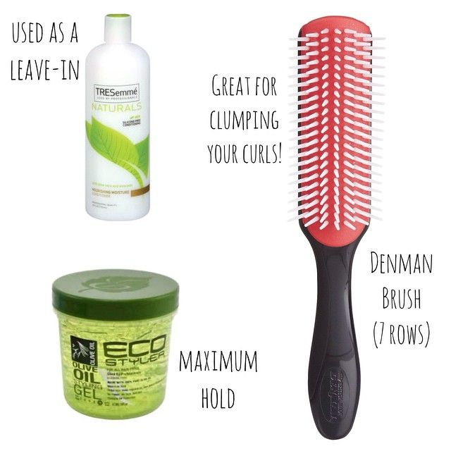Ingredients (can I call it that? ) I've been using for my wash 'n goes while vacationing in Miami. This denman brush is giving my curls life! So glad I finally invested in one!