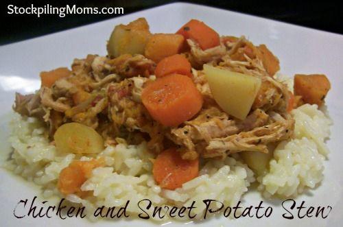 Freezer Cooking :: Chicken & Sweet Potato Stew in the Crockpot  http://www.stockpilingmoms.com/2012/10/freezer-cooking-chicken-sweet-potato-stew/