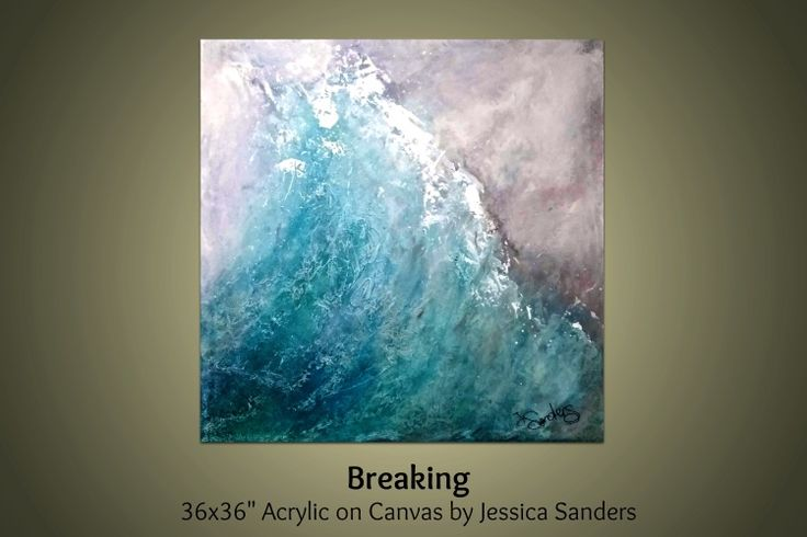 Breaking // Statement Art //Large - 36x36 inch Canvas (2016) Acrylic painting by Jessica Sanders | Artfinder