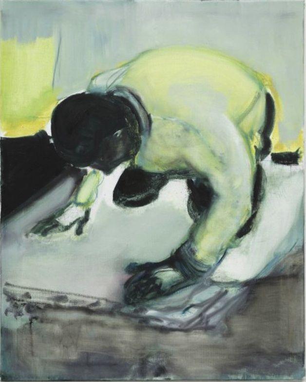 Marlene Dumas (South African, b. 1953), Living on your Knees, 2010. Oil on linen, 100 x 80.6cm.