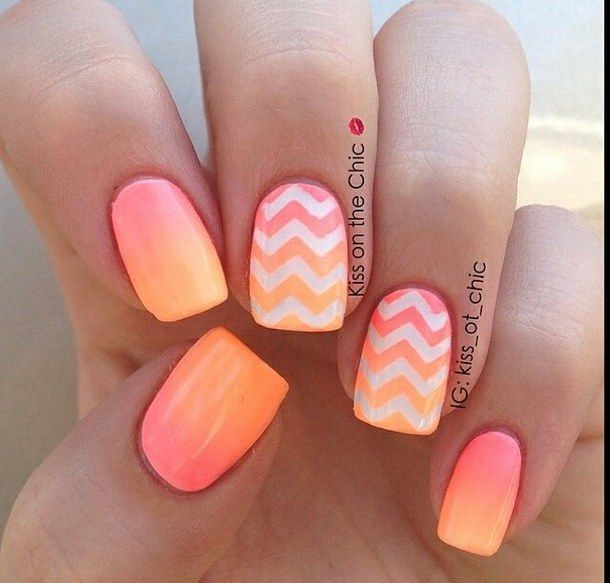 Zigzag nail art!