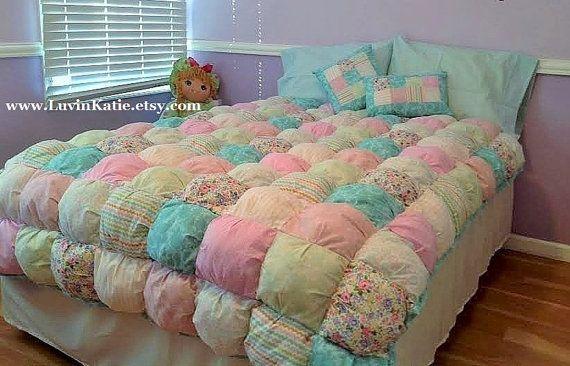 Puff Quilt Bubble Quilt Girl Comforter Bedding Set