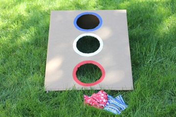 4th of July Family Fun - bean bag toss