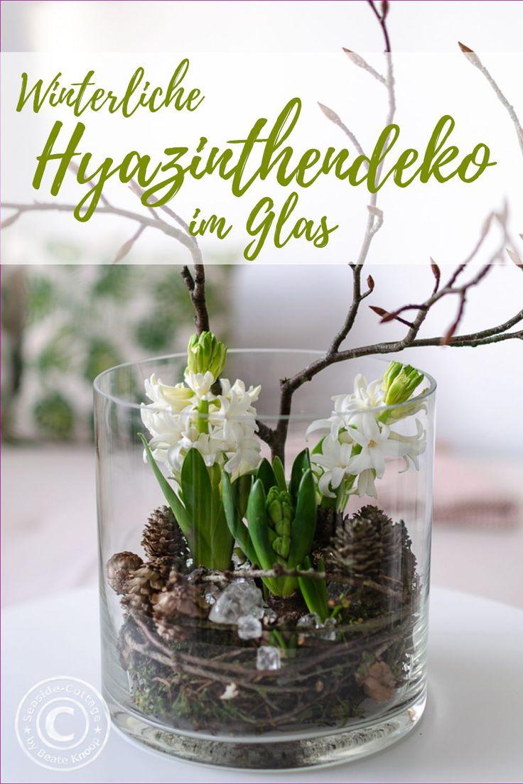Hyazinthen winterlich dekorieren – ich zeige Dir, …