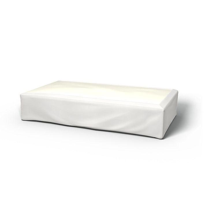 Sängkappa, Sängkappor, 140x200 cm, Höjd 50 cm, Rak med tyget Panama Cotton Soft White