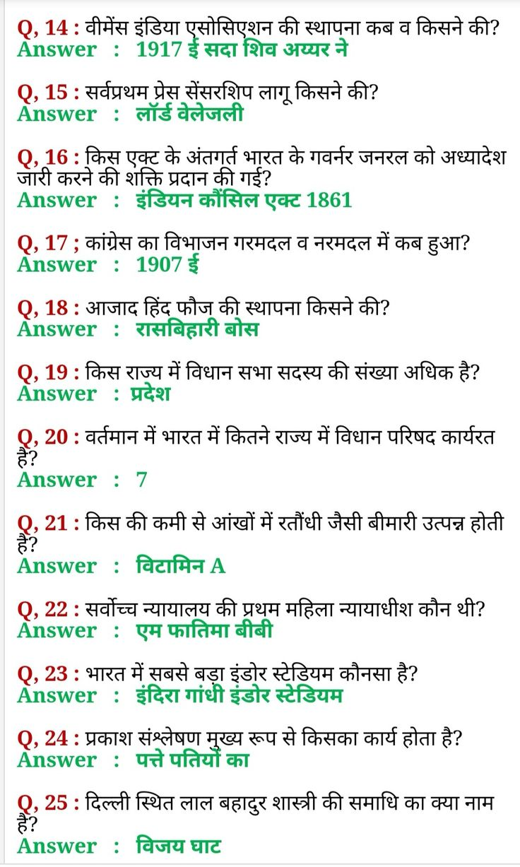 Gk Question (2020) General Knowledge In Hindi Gktoday | Gk ...