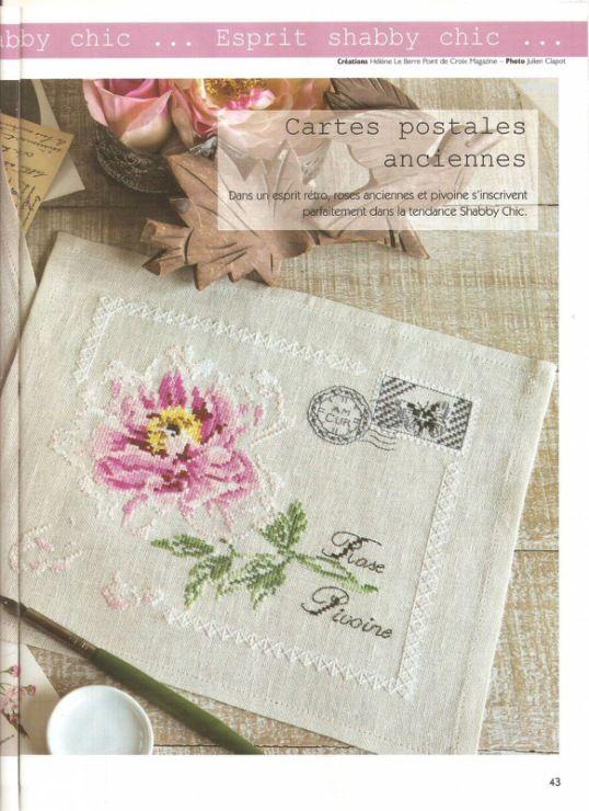 ROSE ENVELOPES cross stitch chart.  Gallery.ru / Фото #1 - Пион - DELERJE