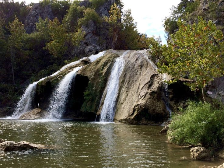 Turner Falls, the largest waterfall in Oklahoma, is a sight worth seeing. Nestled in the