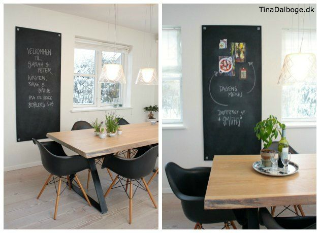 Plade malet med tavlemaling i stuen   tavlelmaling fra tina ...