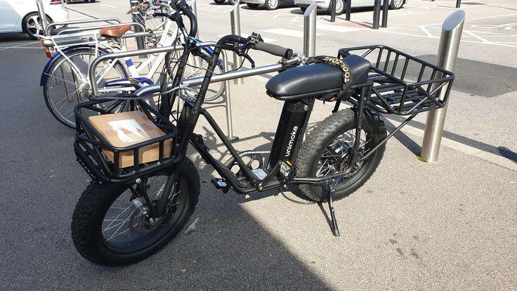 Delivery Courier E Bike Rear Bike Basket Ebike Electric Cargo Bike