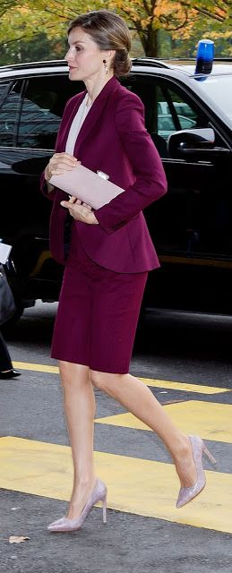 Royals & Fashion - Queen Letizia was in Geneva where she participated in a WHO conference on the benefits of breastfeeding babies.