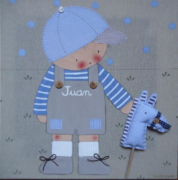 Cuadros ni os personalizados stencil barcelona pinturas - Cuadros para ninos personalizados ...