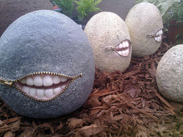 Creepy Garden Ornaments. Brigg, North Lincolnshire. By Man Of Yorkshire,  Via Flickr