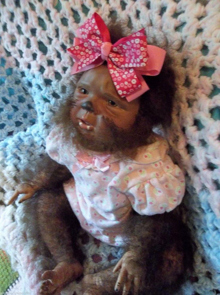 Reborn werewolf girl hybrid horror doll unique hairy art ...