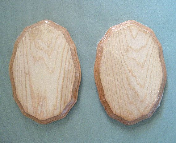 Craft Wood Plaque 1 Oval Plaque Natural Wood Plaque Pine Wood Plaque Wooden Plaque Unfinished Wood Plaque Craft Plaque Small Plaque Beveled