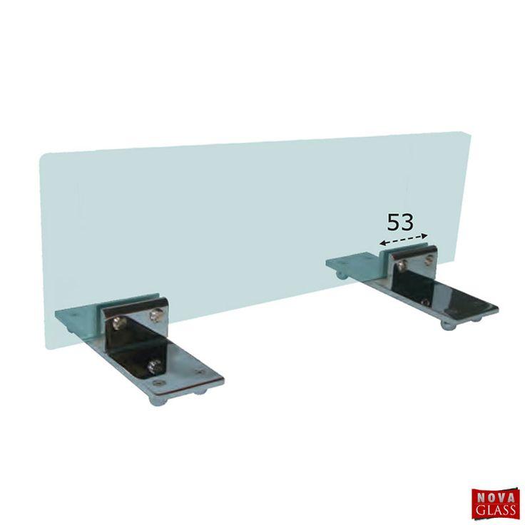 Μεταλλικό στήριγμα για κρύσταλλο τζακιού Κωδ. 0138 | Nova Glass e-shop