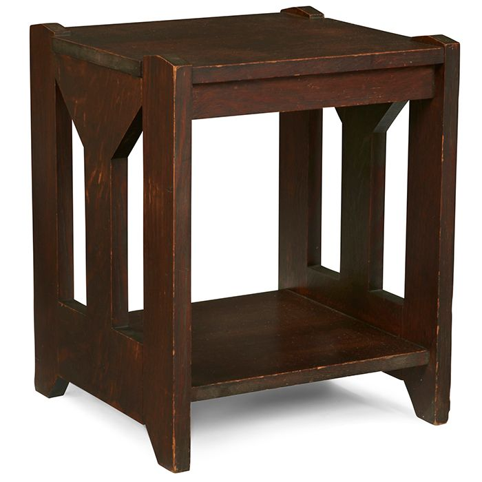 Michigan Chair Company, Tabouret, Grand Rapids, MI, Oak, Signed With Paper