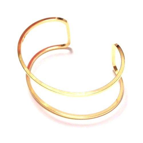 Yochi NEW YORK ヨキ ニューヨーク カフ Yochi Wire Open Cuff バングル ゴールド 幅広 太 レディース メンズ ユニセックス シンプル ブレスレットバングル 個性的なデザイン ペア プレゼント に おすすめ ばんぐる ぶれすれっと 金色 ブランド 海外
