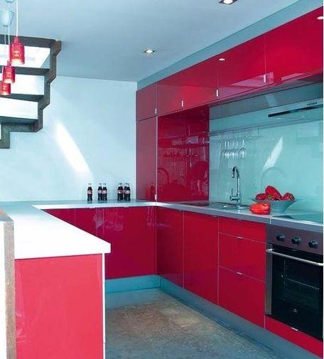 17 best images about cocinas rojas on pinterest - Cocinas rojas modernas ...