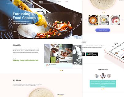 """Check out new work on my @Behance portfolio: """"Tasti, Catering landing page concept"""" http://be.net/gallery/46693235/TastiCatering-landing-page-concept"""