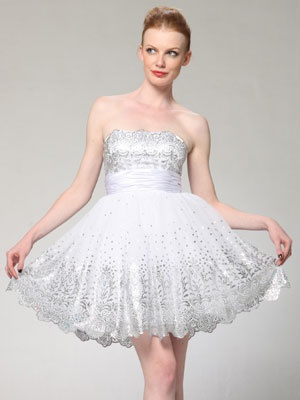 fdee0a69af4d927c65ce26ee4f94f842  short dress wedding second wedding dresses