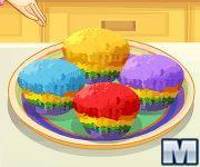 Cocina con Sara: magdalenas de colores