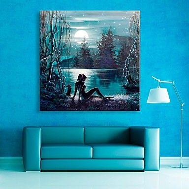 e-Home® venytetty johti kankaalle tulostaa kuvia Moon Lake salaman vaikutus johti vilkkuva valokuitu tulosta 2644206 2017 – hintaan €49.97
