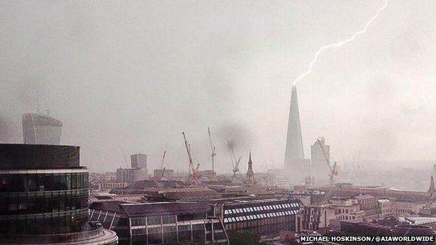 Lightning strike over the Shard Merlin!