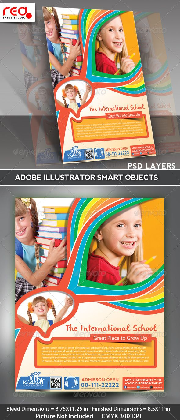 Poster design dimensions - Kid S School Promotion Flyer Poster Template