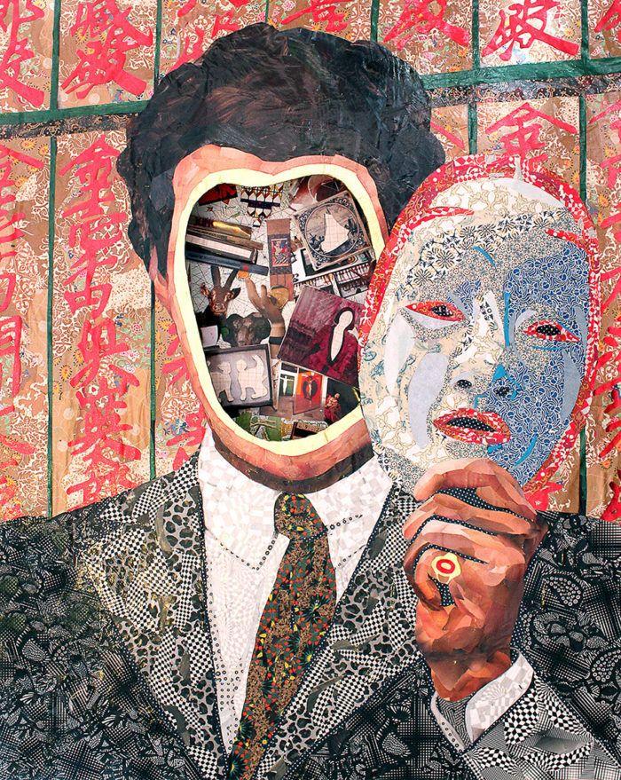 Mitologia E Surrealismo Marcam As Obras De Colagem Do Artista