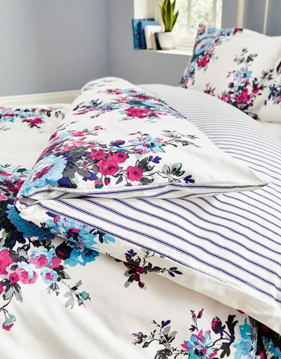 Cream floral Cream Floral Duvet Cover  | Joules UK