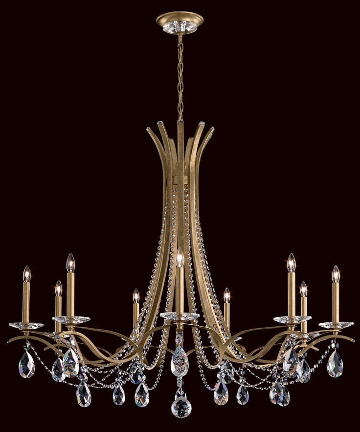 67 best schonbek chandeliers images on pinterest schonbek schonbek vesca heirloom gold nine light chandelier with clear spectra crystal on sale aloadofball Gallery