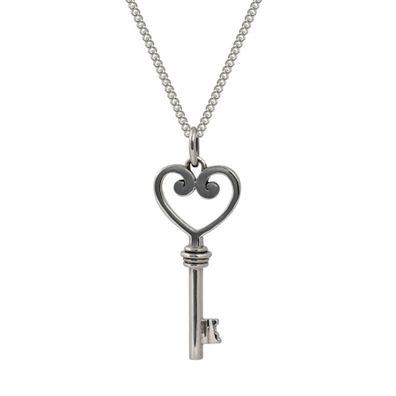 Silver and Some - Evolve - Necklace, Pendant Koru Heart Key