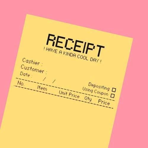 Receipt Notepad Pink Yellow Blue Notepads Personalized Notepad Memo Pad Sticky Note Stationery Scrapbooking Branding Objek Gambar Inspirasi